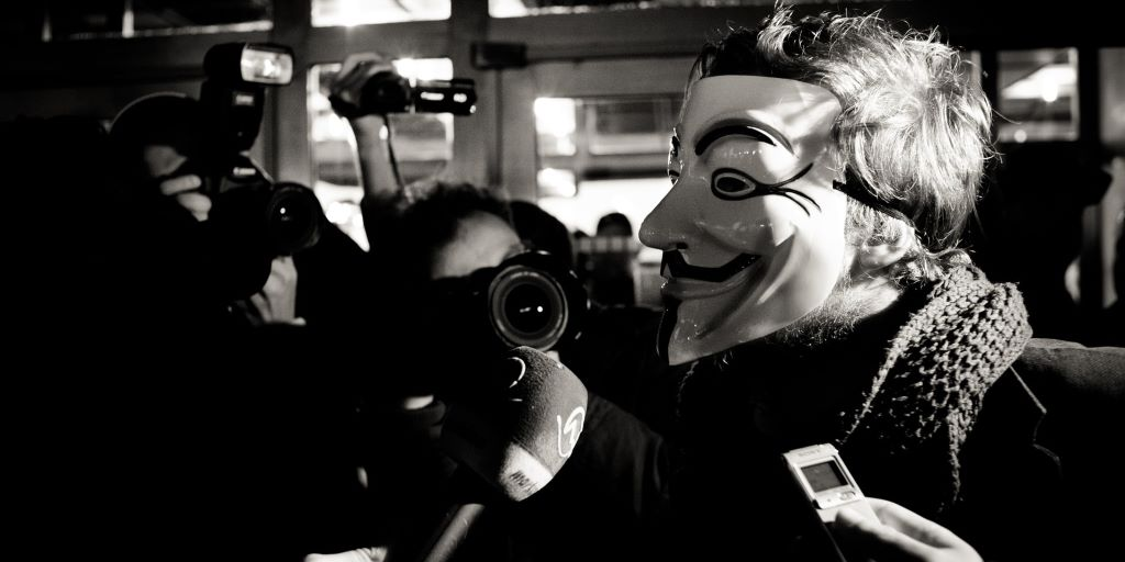 Anonymous masked man interview by michal matlon