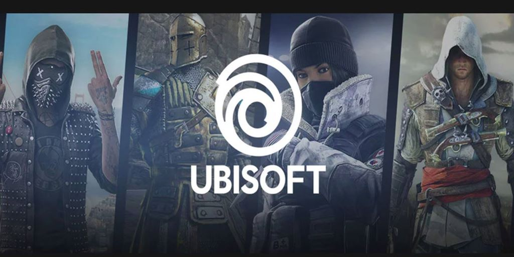 Ubisoft games in the background